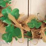Shamrocks and burlap wreath