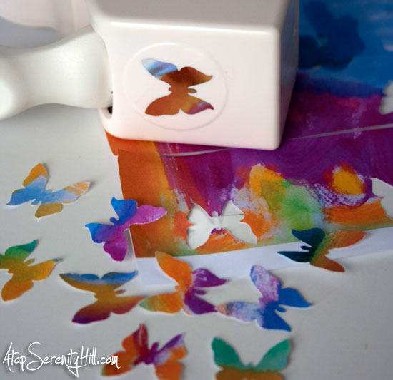 paper punched butterflies • AtopSerenityHill.com