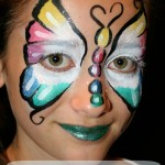 Rainbow Butterfly Face Paint Tutorial