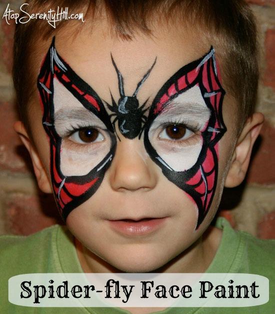 spidermanbutterflyfacepaint