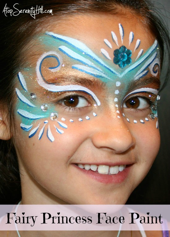 Princess Face Painting with Jewels by Atop Serenity Hill