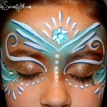 Fairy princess face paint guest post over at U-Create