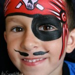 Halloween face painting • a simple pirate