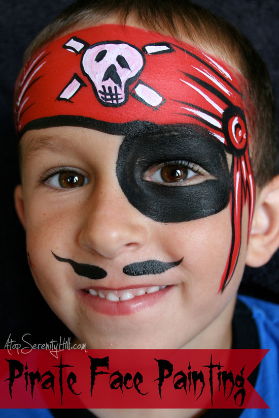 Awesome Halloween Face Painting A Simple Pirate Atop Serenity Hill Short Hairstyles Gunalazisus