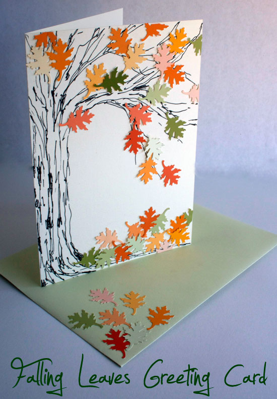 Falling leaves greeting card atop serenity hill falling leaves greeting card for autumn atop serenity hill m4hsunfo