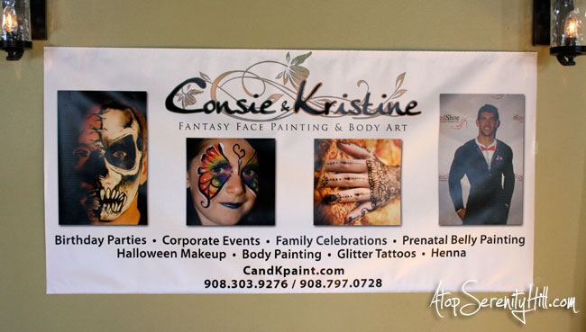 Banner for face painting at fairs from BuildASign.com • AtopSerenityHill.com