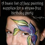A basic list of face painting supplies for a stress-free birthday party