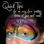 Quick tips for an easy face painting station at your next event