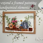 Easily extend a framed painting with handpainted elements