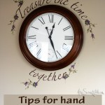Tips on hand lettering on a wall