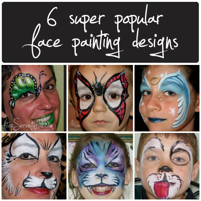 6 popular face painting designs for birthday parties • AtopSerenityHill.com #butterfly #spiderman #facepainting #birthdayparties