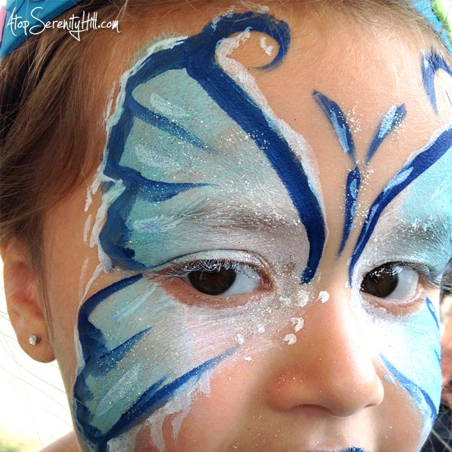 Face Painting Frozen Elsa Elsa Butterfly Face Painting
