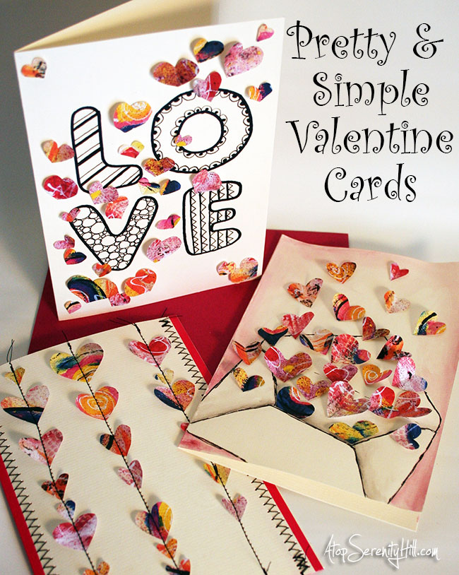 Pretty and simple Valentine cards Atop Serenity Hill – Pretty Valentine Cards