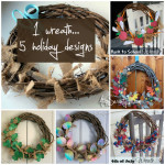 1 wreath • 5 holiday designs