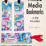 Free printable mixed media bookmarks
