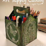 DIY art supply caddy