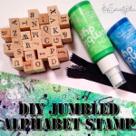 DIY jumbled alphabet stamp