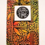 DIY faux stained glass clipboard