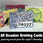 Stenciled greeting cards