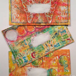 Gelli® printed mail art envelopes