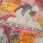 Mission inspiration art journal page • Journey
