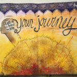 Mission inspiration art journal page • Fall in love