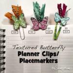 Pretty butterfly planner clips
