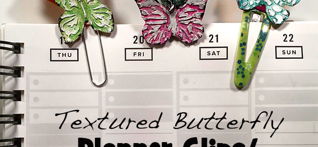 Pretty butterfly planner clips