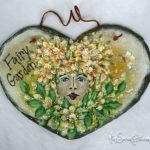 Pretty garden fairy slate
