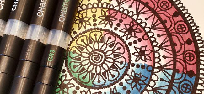 Colorful mandala using Chameleon Pens