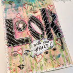 Mission inspiration art journal page • Look with your heart