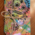 Sugar skull DIY wrapping paper