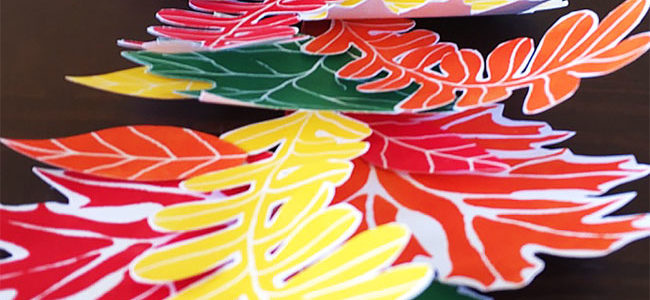 Fall leaves tabletop paper garland