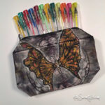 Butterfly zippered pouch