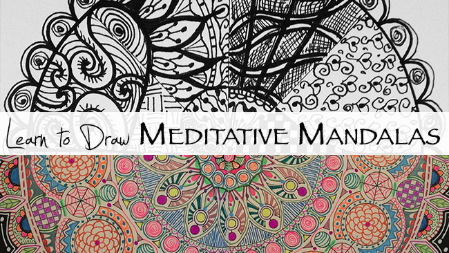 Learn to draw meditative mandalas...an online class by AtopSerenityHill.com