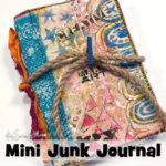 Mini art journal or junk journal