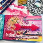 Daily creative challenge using stencils