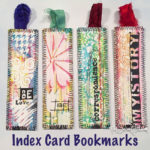 Index card bookmarks