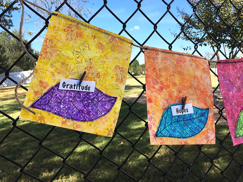 Prayer Pocket Flags - an online class from AtopSerenityHill.com