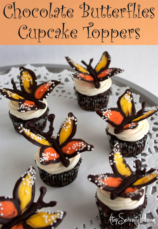 chocolatebutterflycupcaketoppers