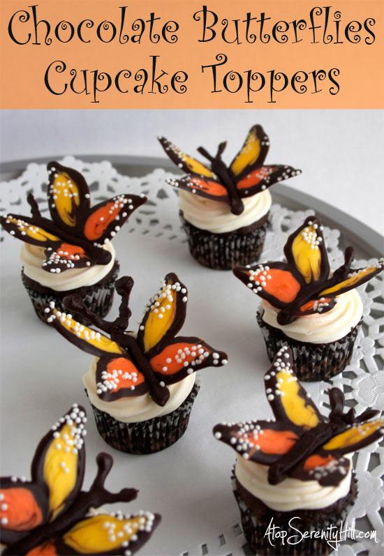 chocolatebutterflycupcaketoppers